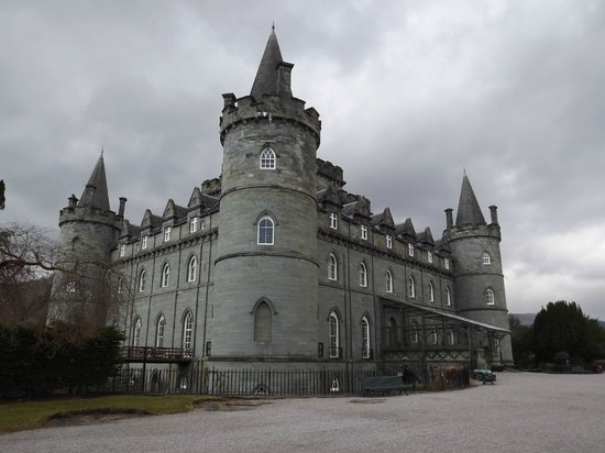 Inveraray Castle: Inveraray Castl, entrance