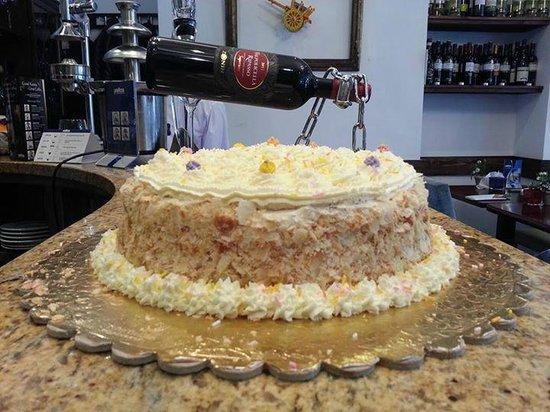 Santino : Mimosa cake by Fortunato's chef