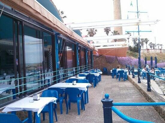 Bar Las Canteras: Terraza frente al mar