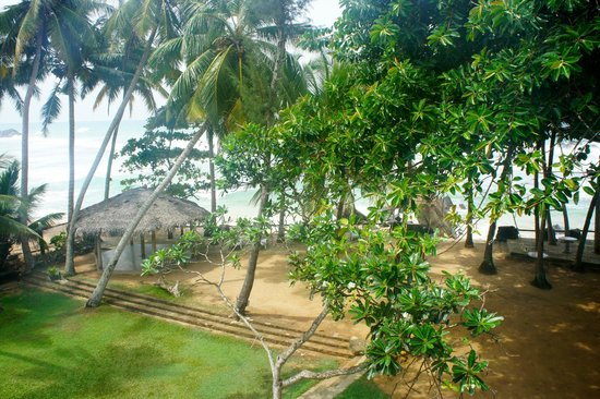 Sri Gemunu Beach Resort: Blick vom Balkon