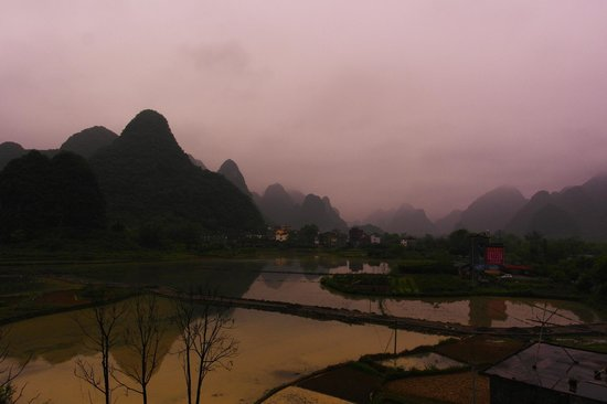 Yangshuo Tea Cozy: View from our 5th floor balcony