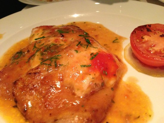 Signor Sassi : Veal escalope with mozzarella cheese... if i remember correctly