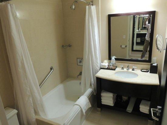Sheraton Garden Grove - Anaheim South Hotel: トイレ、洗面台、お風呂