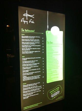 Flying Fish Restaurant & Bar: Sign outside