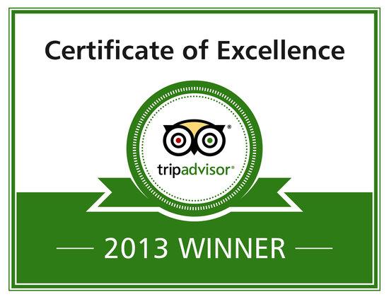 Avondale Guest House: Tripadvisor Certificate of Excellence Award 2013