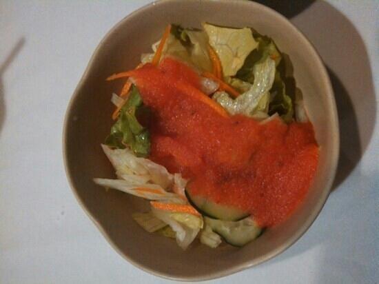 Sekai Sushi: side salad with addicting homemade house dressing