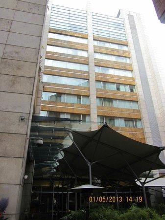 JW Marriott Hotel Bogota: Blick vom Hinterhof aus