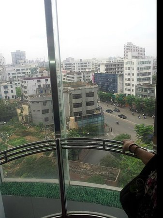 Siji Chuntian Hotel : view from the glass lift