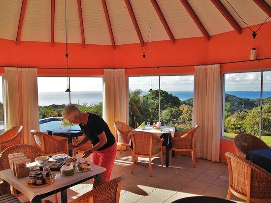 Cintsa Lodge : herrliche Aussicht beim tollen Frühstück