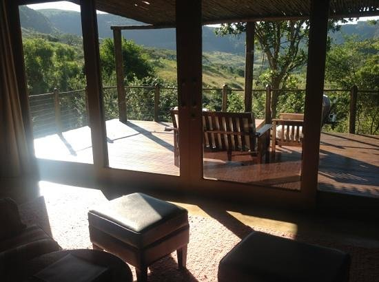 คาร์คลูฟสปา: the balcony of room 4 at Karkloof Safari Spa.