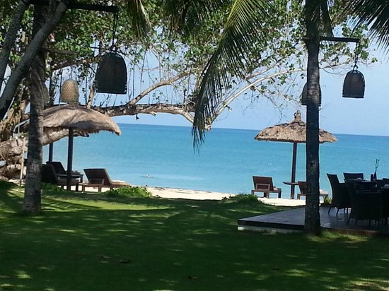 Belmond Jimbaran Puri: View of the beach from the hotel