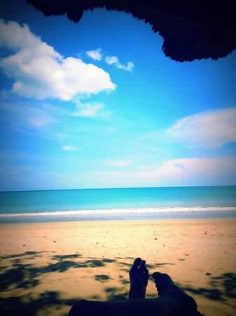Belmond Jimbaran Puri: private beach view