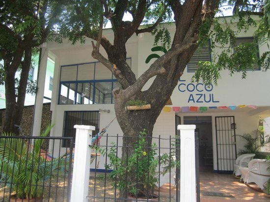 Hotelito El Coco Azul: Front of the hotel
