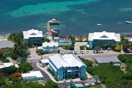 Compass Point Dive Resort: Aerial resort overview
