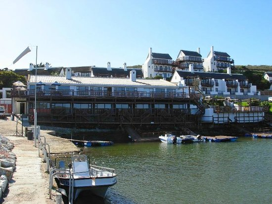 The Breede River Resort and Fishing Lodge: View of the lodge and its private harbour