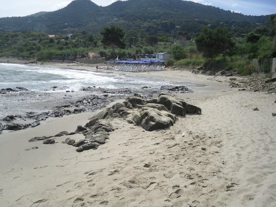Hotel Baia del Capitano: Sandy beach near hotel