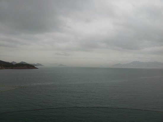 Warwick Hotel Cheung Chau: Beautiful view on a cloudy day... I can only imagine how amazing it would be when it's sunny!