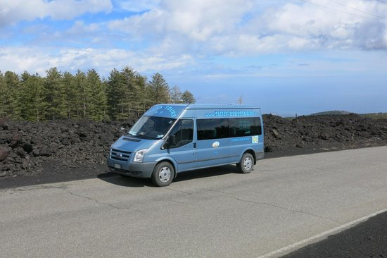 "Sicily Blues Tours - Day Tours: The ""Alfie mobile""  on Mt Etna."