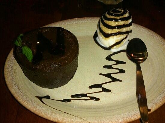 Nando's: Chocolat fondant... miamm!