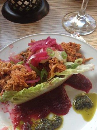 Las Iguanas - Reading: beetroot sauce scrummy!