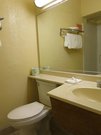 Motel 6 Visalia: the bathroom