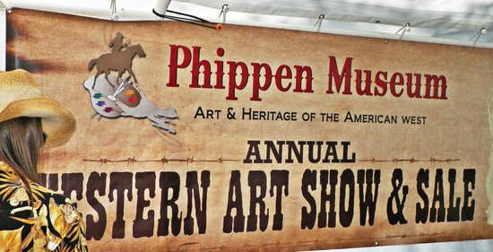 Phippen Museum : Show banner for the Western Art Show