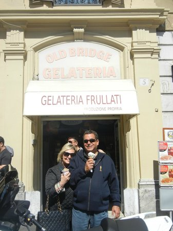 Avventure Bellissime Rome: THE OLD BRIDGE GELATO across from the Vatican Museum, the finest in Rome