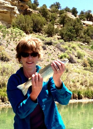 Soaring Eagle Lodge: Me with my Trout!