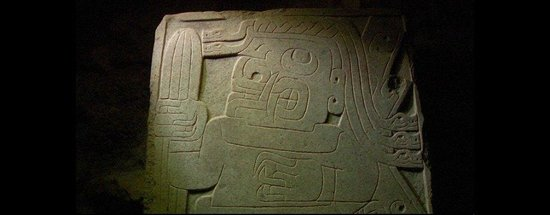 Archaeological Site of Chavin: Shaman-Priest holding a Wachuma cactus
