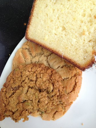 Miss Lily's Cafe: oatmeal raisin, peanut butter and lemon loaf