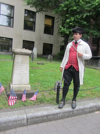 Lessons on Liberty: Guide Bob Miller, dispelling the myths surrounding Paul Revere and his midnight ride.
