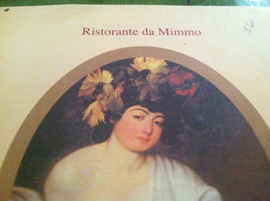 Ristorante Da Mimmo: Mimmo Menu cover.. Food dated and service dated like menu