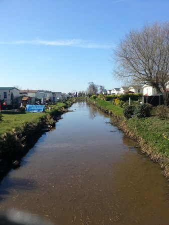 Riverside Touring & Holiday Park: The river, looking the other way