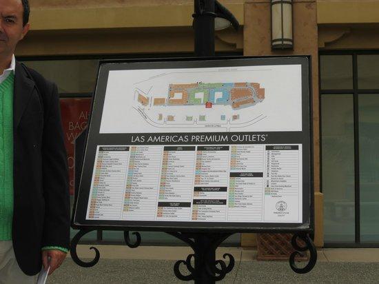 Las Americas Premium Outlets: mapa do outlet premium las americas