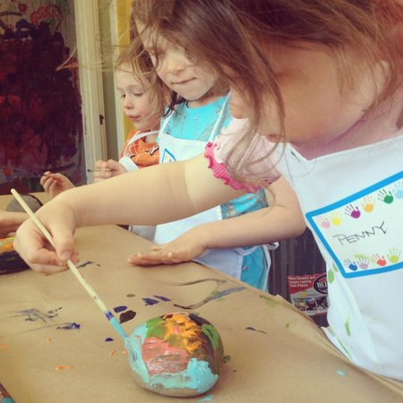 Little Sister's Creative Youth Studio: painting rocks