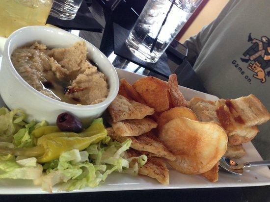 Vertex Sky Bar: Hummus plate, tasty.