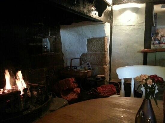 The Old Vine: log fire