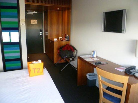 Jasper Hotel: Bedroom from window