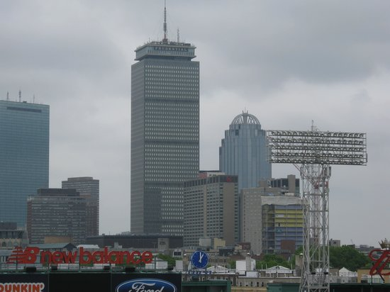 A rendering of the proposed 17-story tower at the Prudential Center complex.