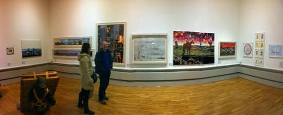 Looking at the art at the Harris Museum and Art Gallery