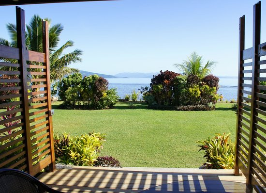 Aroha Taveuni: The view from the bure on the ocean