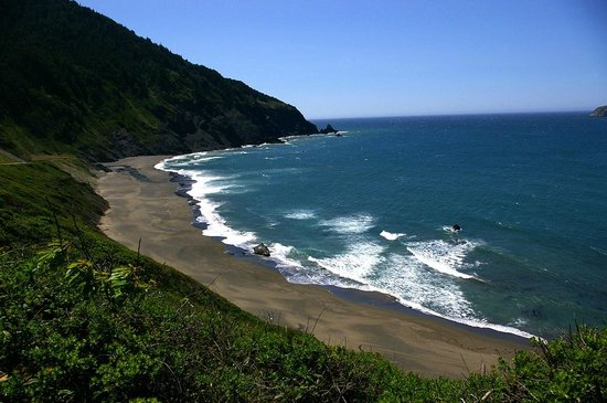Port Orford, OR: Humbug Mountain meets the Pacific