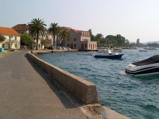 Hotel San: Sea wall near the hotel