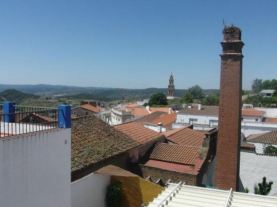 La Posada de Las Ciguenas: vista desde la terraza de nuestra habitación