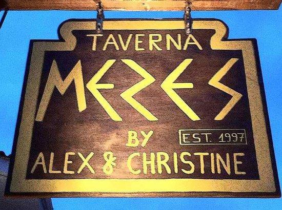 MEZES by Alex&Christine : restaurant name