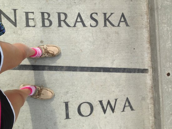 Bob Kerrey Pedestrian Bridge : I was here .... And here!