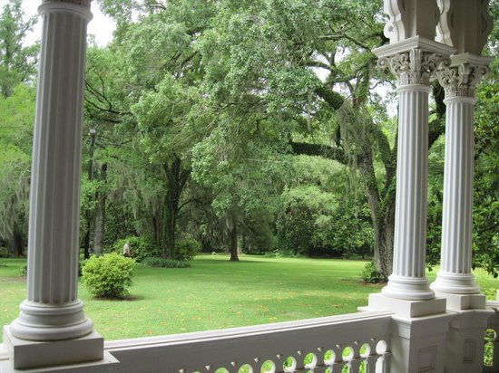 Natchez, MS: View from the verandah of Longwood.