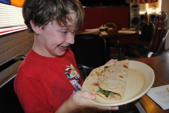 "Manuel's: ""before"" - kid's taco"