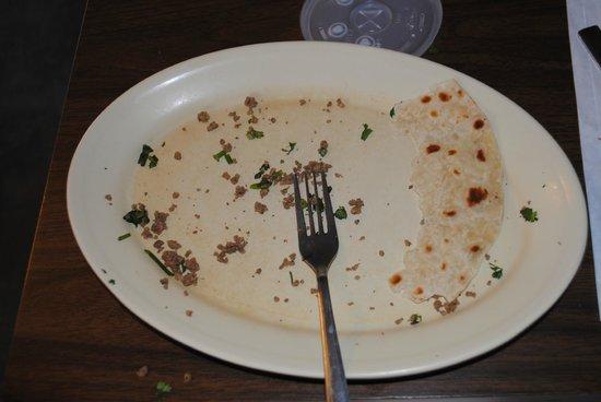 "Manuel's: ""after"" - kid's taco"