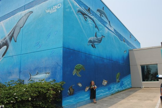 Whaling Wall: Corner of the mural